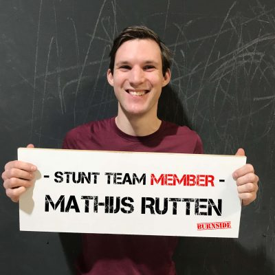 Burnside team member Mathijs Rutten